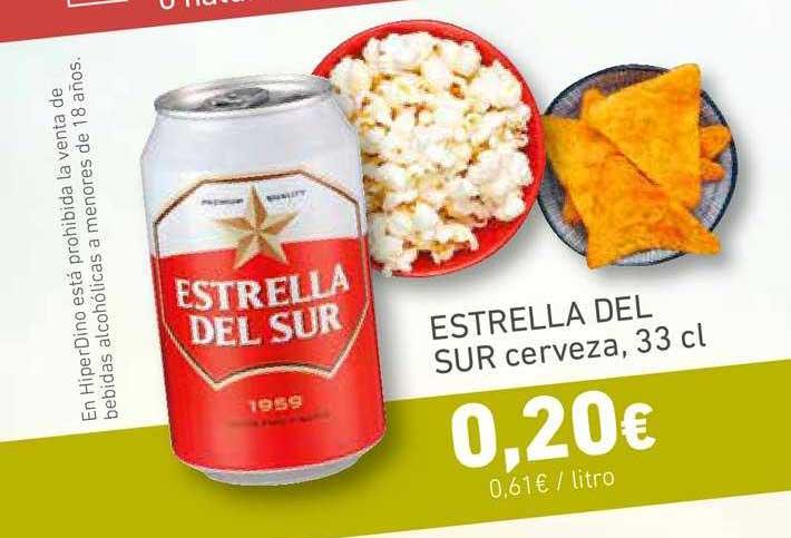 HiperDino Estrella Del Sur Cerveza, 33cl