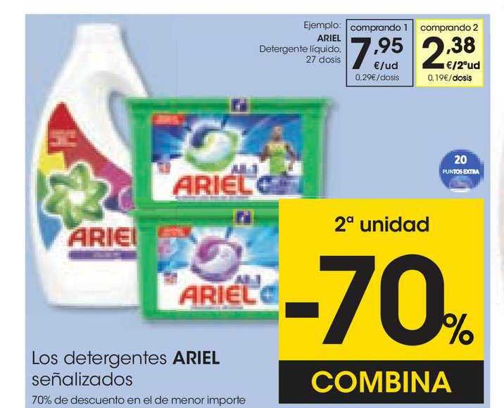 EROSKI 2ᵃunidad -70% Combina Los Detergentes Ariel Señalizados