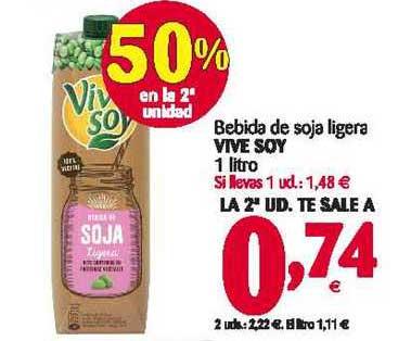 Alimerka Bebida De Soja Ligera Vive Soy