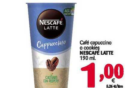 Alimerka Café Capuccino O Cookies Nescafé Latte