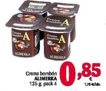 Alimerka Crema Bombón Alimerka