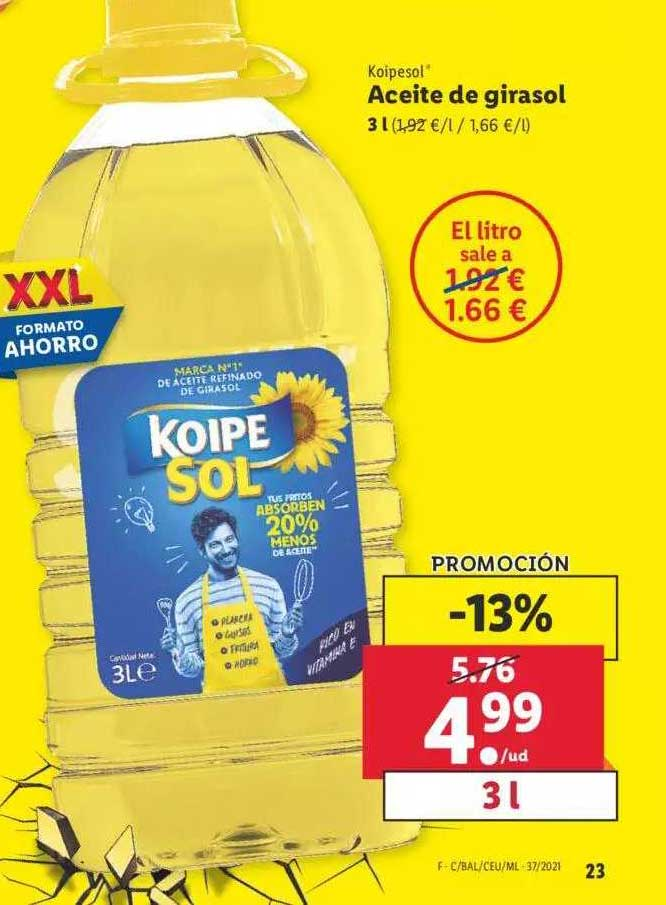 LIDL Koipesol Aceite De Girasol