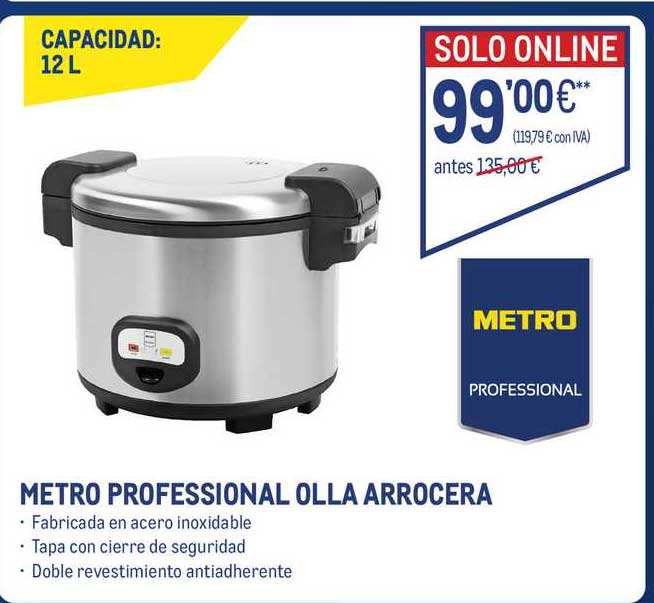 Makro Metro Professional Olla Arrocera