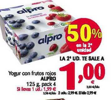 Alimerka Yogur Con Frutos Rojos Alpro