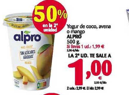 Alimerka Yogur De Coco, Avena O Mango Alpro