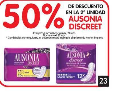 Alimerka 50% De Descuento Ausonia Discreet