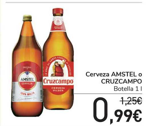 Carrefour Express Cerveza Amstel O Cruzcampo