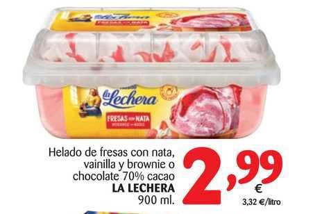 Alimerka Helado De Fresas Con Nata La Lechera