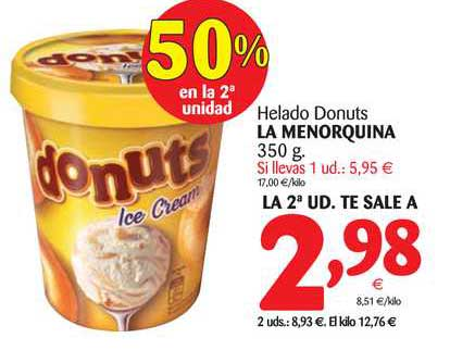 Alimerka Helado Donuts La Menorquina