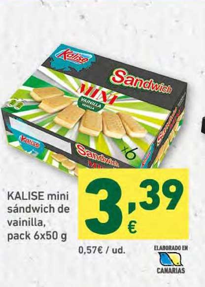 HiperDino Kalise Mini Sandwich De Vainilla