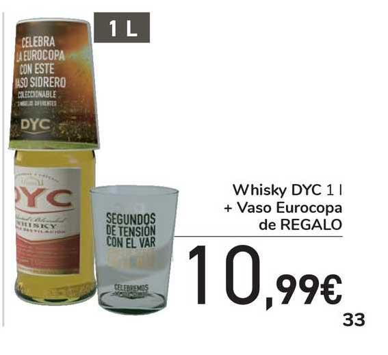 Carrefour Express Whisky DYC + Vaso Eurocopa De Regalo