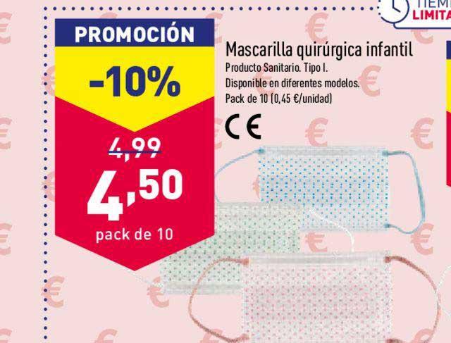 ALDI -10% Mascarilla Quirúrgica Infantil