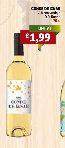 Gros Mercat Conde De Iznar Vi Blanc Verdejo D.O. Rueda 75 Cl