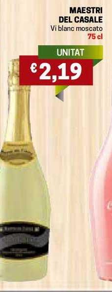 Gros Mercat Maestri Del Casale Vi Blanc Moscato 75 Cl