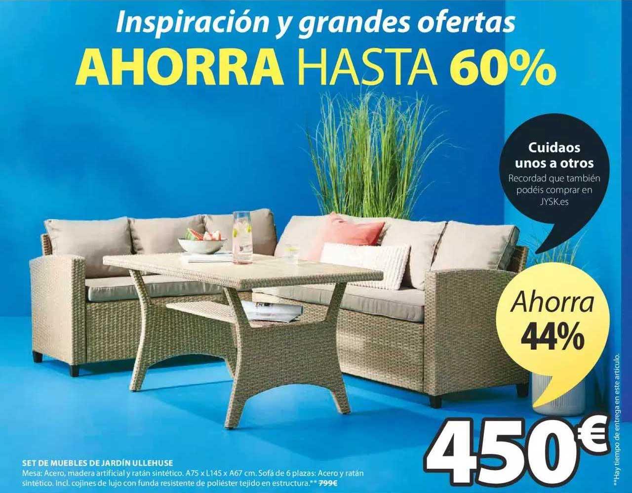 JYSK Ahorra 44% Set De Muebles De Jardín Ullehuse