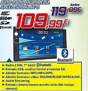 Aurgi Auto-radio Multimedia Speed Sound Ac-8