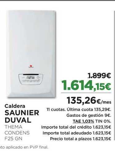 El Corte Inglés Caldera Saunier Duval