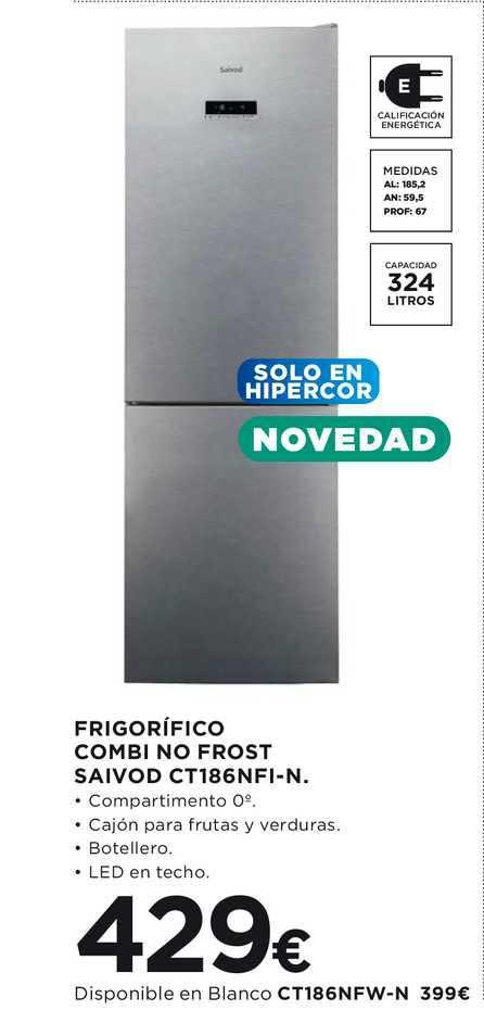 Hipercor Frigorífico Combi No Frost Saivod Ct186nfi-1