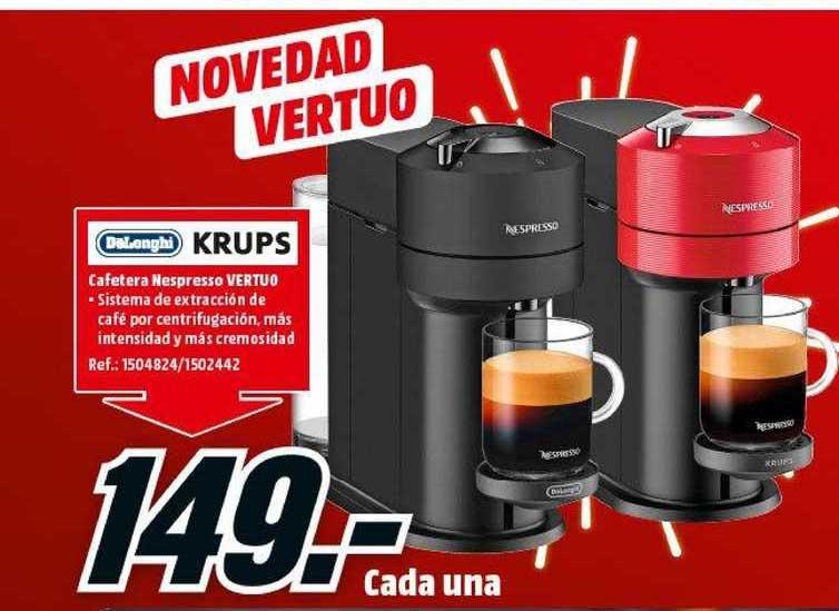 MediaMarkt Delonghi Krups Cafetera Nespresso Vertuo
