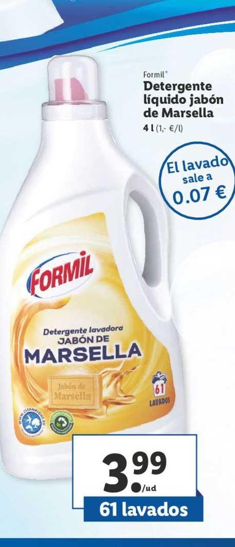 LIDL Formil Detergente Líquido Jabón De Marsella 4 L