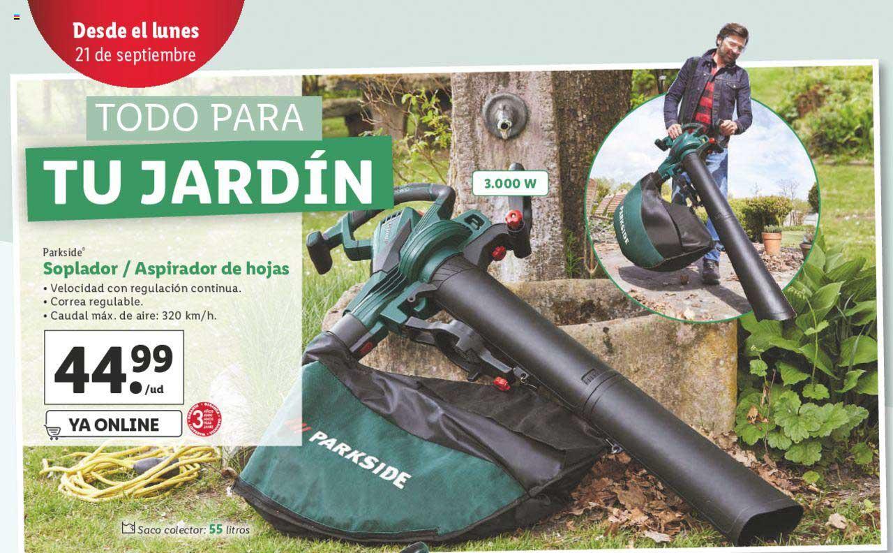 LIDL Parkside Soplador-Aspirador De Hojas