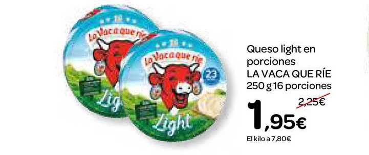 Dialprix Queso Light En Porciones La Vaca Que Ríe
