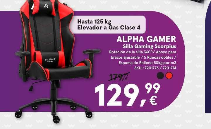 Worten Alpha Gamer Silla Gaming Scorpius