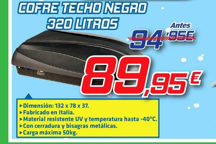 Aurgi Cofre Techo Negro 320 Litros