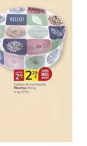 Consum Galletas De Mantequilla Riberhus 454 G