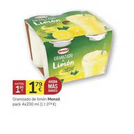 Consum Granizado De Limón Monzó Pack 4x200 Ml