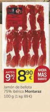 Consum Jamón De Bellota 75% Ibérico Montaraz 100 G