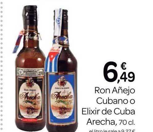 Supermercados El Jamón Ron Añejo Cubano O Elixir De Cuba Arecha