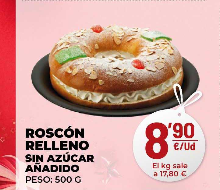 AhorraMas Roscón Relleno Sin Azúcar Añadido