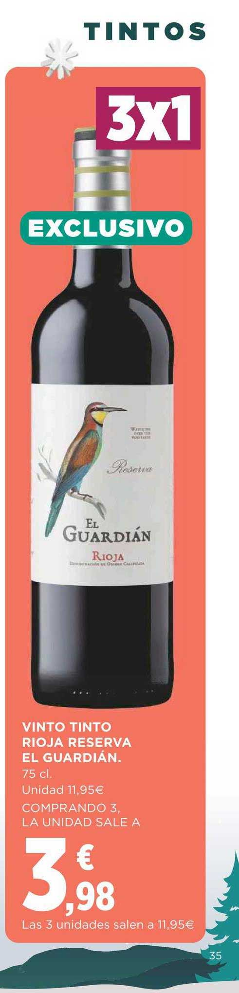 Supercor Vino Tinto Rioja Reserva El Guardián