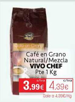 Cuevas Cash Café En Grano Natural ∕ Mezcla Vivo Chef Pte 1kg