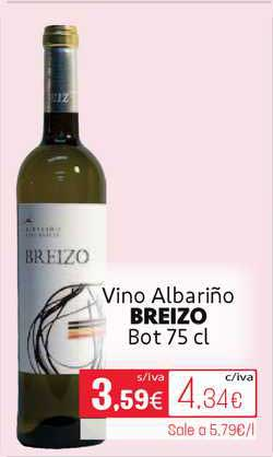 Cuevas Cash Vino Albariño Breizo Bot 75cl