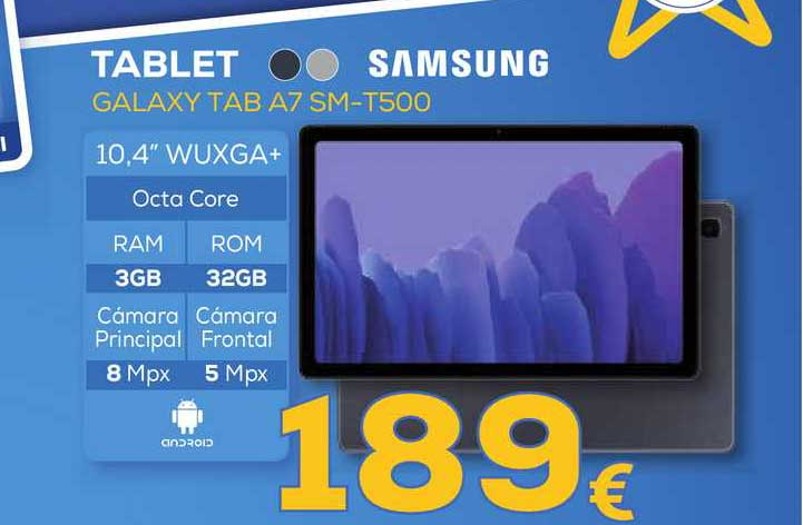 Euronics Tablet Galaxy Tab A7 Sm-t500 Samsung