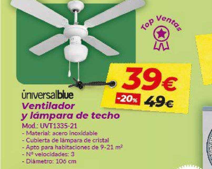Embargos A Lo Bestia Ventilador Y Lámpara De Techo Unicversalblue