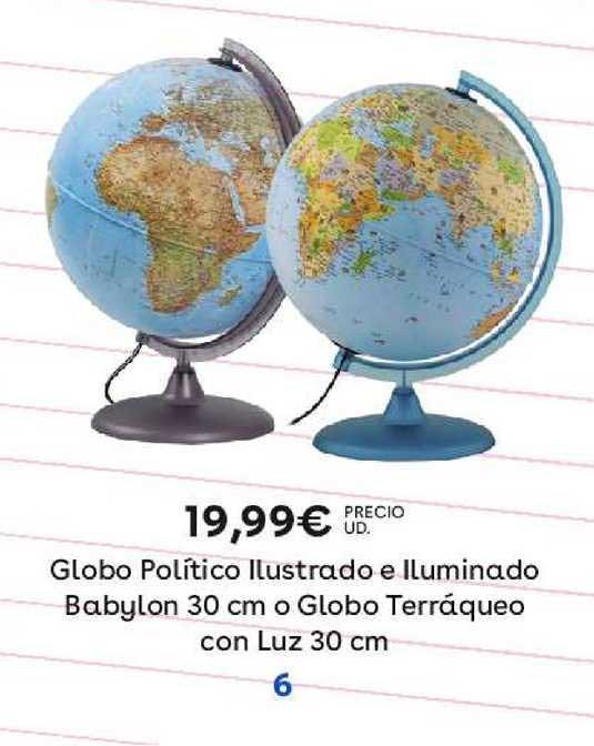 ToysRUs Globo Político Ilustrado E Iluminado Babylon 30 Cm O Globo Terráqueo Con Luz 30 Cm