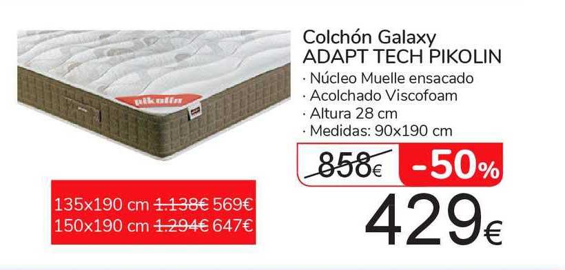 Carrefour Market -50% Colchón Galaxy Adapt Tech Pikolin