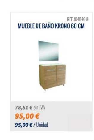 Bricomart Mueble De Baño Krono 60cm