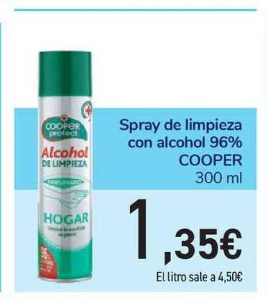 Carrefour Market Spray De Limpieza Con Alcohol 96% Cooper 300 Ml