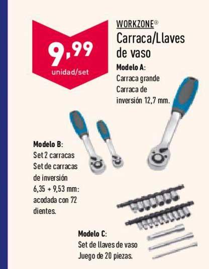 ALDI Workzone Carraca-Llaves De Vaso
