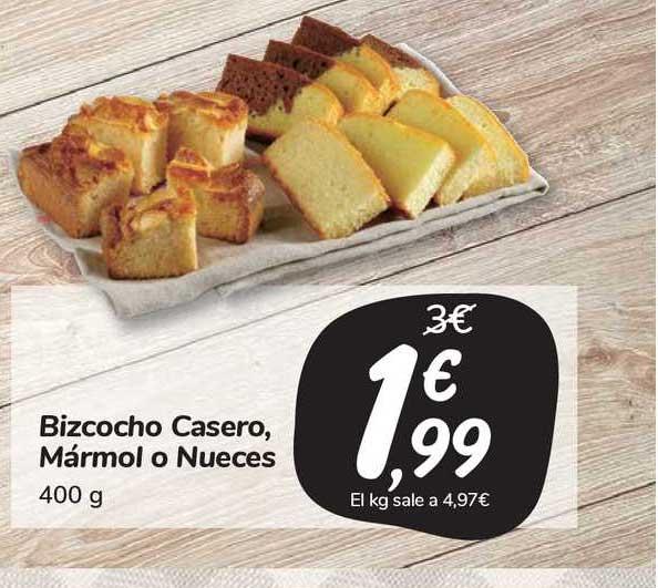 Carrefour Market Bizcocho Casero Mármol O Nueces
