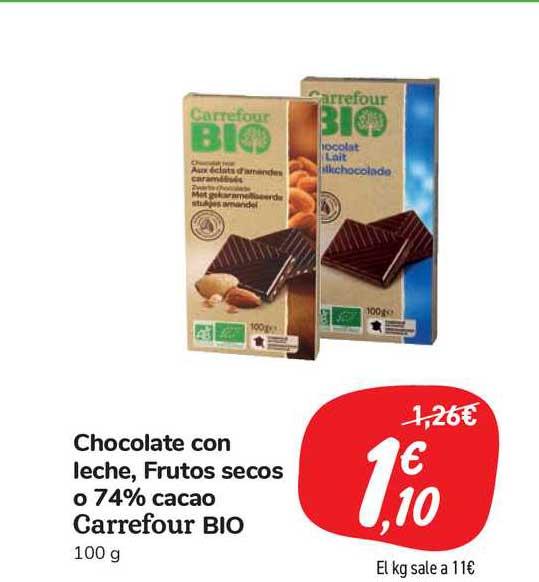 Carrefour Market Chocolate Con Leche, Frutos Secos O 74% Cacao