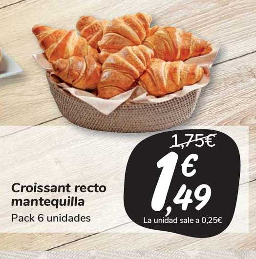 Carrefour Market Croissant Recto Mantequilla