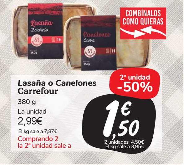 Carrefour Market Lasaña O Canelones