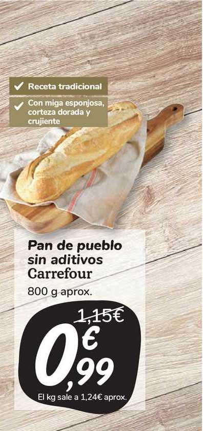 Carrefour Market Pan De Pueblo Sin Aditivos