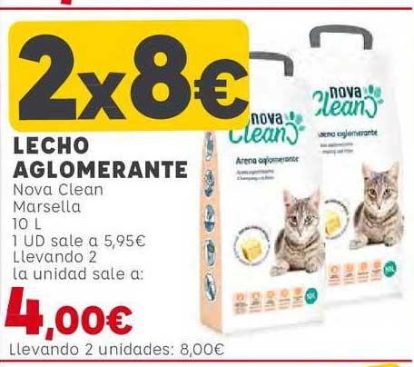 Kiwoko 2x8€ Lecho Aglomerante Nova Clean Marsella 10 L