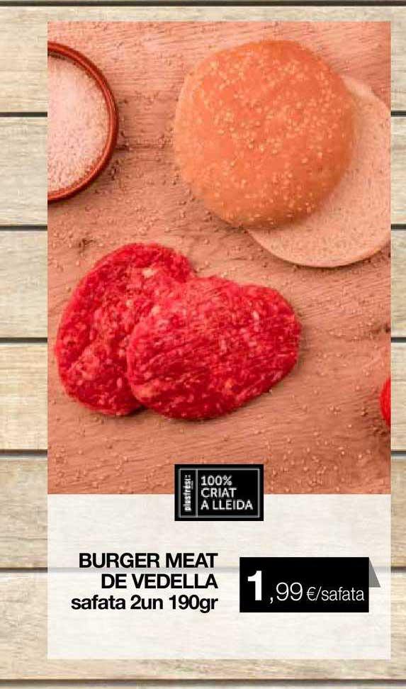 Plusfresc Burger Meat De Vedella Safata 2un 190gr